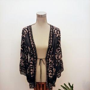 Hale Bob velvet burnout kimono size small